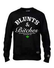 BLUNTS AND BITCHES CREW-NECK SWEATSHIRT