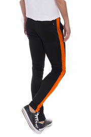 HOLIDAY TRACK PANTS- BLACK/ ORANGE