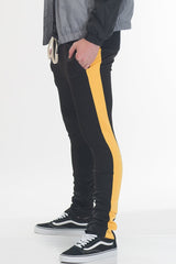 HOLIDAY TRACK PANTS- BLACK/ YELLOW