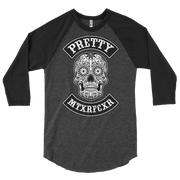 PRETTY MUTHER SKULL  RAGLAN TSHIRT