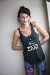 Boo You Horcrux Tri-Blend Racerback Tank Top