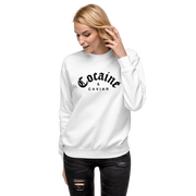 COCAINE & CAVIAR BRICK WHITE SWEATSHIRT