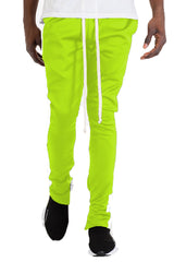 HOLIDAY TRACK PANTS- LIME/ WHITE