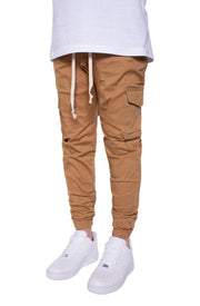 Cargo Twill Joggers in Wheat