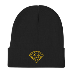 GEOMETRIC DIAMOND BEANIE