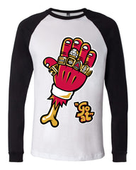 THE GOAT 5 STAR  RAGLAN TSHIRT