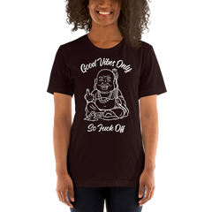 LADIES GOOD VIBES ONLY  PRINT TEE