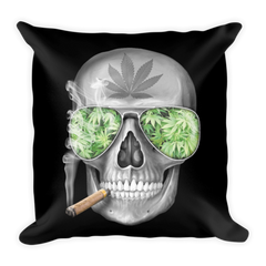 SKULL WEED PILLOW