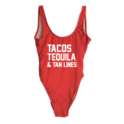 Tacos Tequila & Tan Lines One Piece