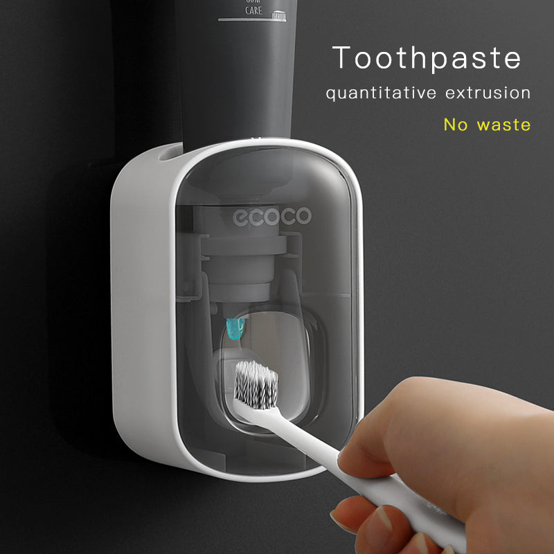 Wall Mount Automatic Toothpaste Dispenser Bathroom Accessories Set Toothpaste Squeezer Dispenser Bathroom Toothbrush Holder Tool