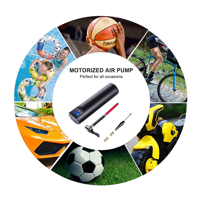 Syrite Portable Electric Air Pump LCD Handheld Inflatable Pump for Cars, Bicycles, Tires, and Sports Equipment USB Cordless Wireless
