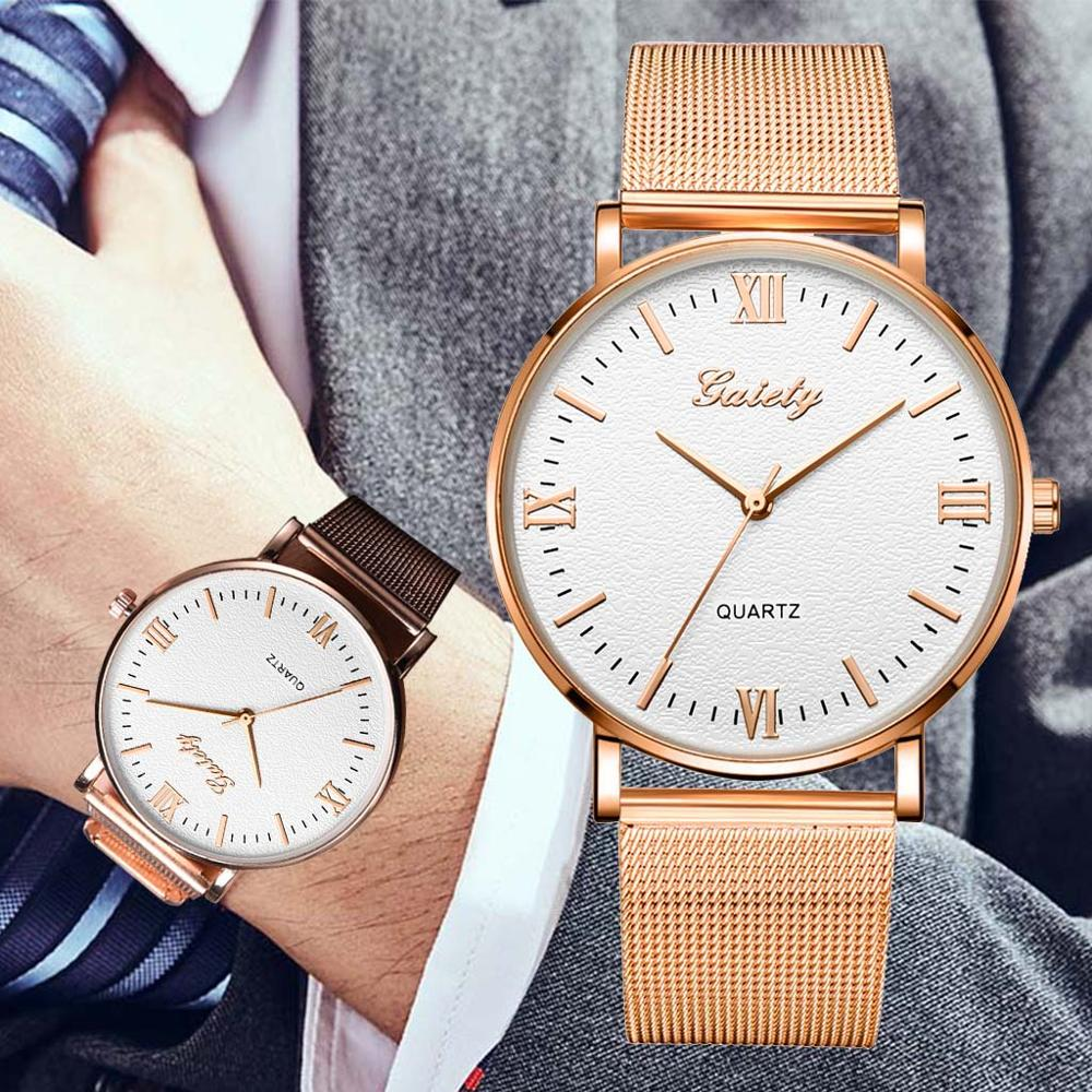 Stainless Steel Mesh Strap Ultra Thin Wrist Watch