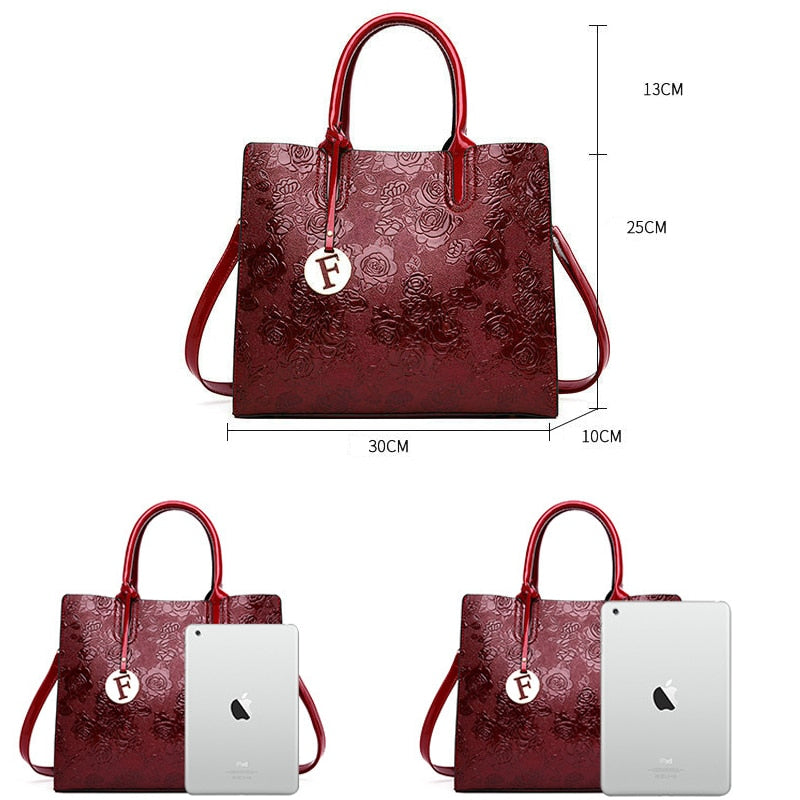 Rose Flower Shape HandBags For Women