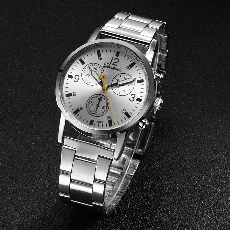 Three Dial Masculino Quartz Watch