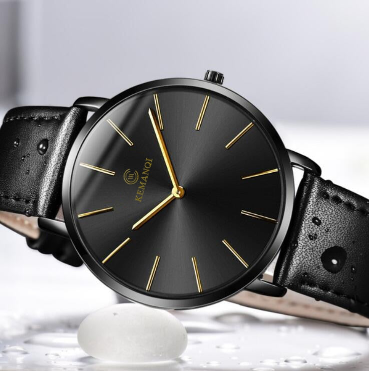 Leather Band Men Quartz Watches