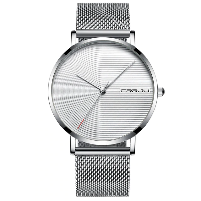 Stainless Steel Mesh Band Wristwatch