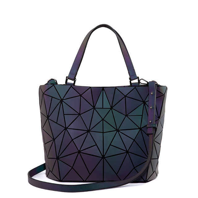 Geometric Luminous Shoulder Bag