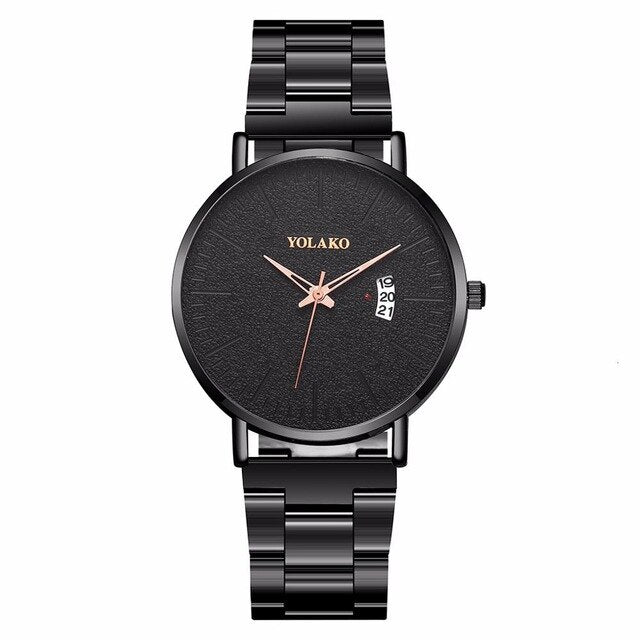 Steel Band Men's  Wrist Watch