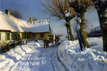 """Winter in herdstedvester"" - (1924) Peder Mork Mønsted"