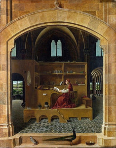 Saint Jerome in his Study  (1474-1475)  Antonello da Messina