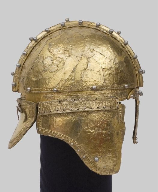 Even when it comes to war and military, ancient Roman knew how to make things elegant and beautiful. One of the examples is this gilded helmet from Serbia, used by a Roman cavalry officer some 16-17 centuries ago, in 4th century AD.