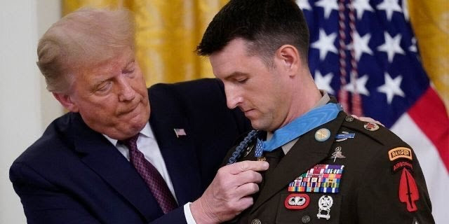 God bless the soldier who risked all and where does PRESIDENT TRUMP stand