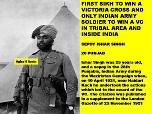 No Sikh awarded VC in ww 1
