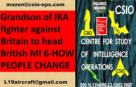 #British MI 6 Boss #grandson of #IRA Rebel !