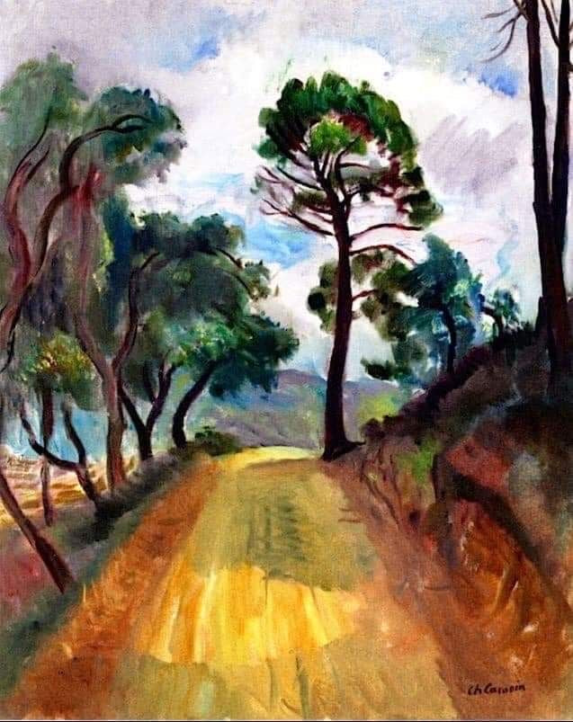 Charles Camoin (French, 1879-1965) Road to Grimaud with Pines, 1947