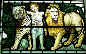 Stained Glass designed by  J W Brown c.1910 at Guisborough Church  Yorkshire