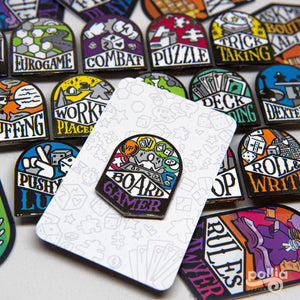 Board Gamer Pin Backer Cards