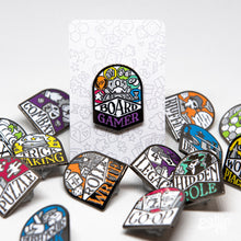 Load image into Gallery viewer, B-GRADE Board Game Genre Enamel Pins