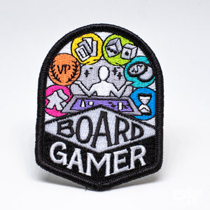 Board Gamer Embroidered Patch
