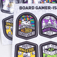 Load image into Gallery viewer, Board Gamer-Isms Sticker Sheet