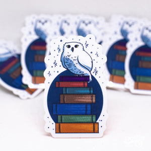 A Bookish Owl Sticker