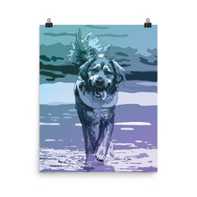 Load image into Gallery viewer, Aqua Dog Poster