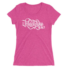 Load image into Gallery viewer, Unladylike Calligraphy Women's Tri-Blend T-Shirt