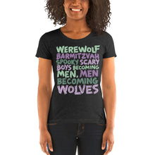 Load image into Gallery viewer, Werewolf Barmitzvah Spooky Typography Women's Tri-Blend T-Shirt