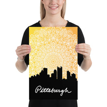 Load image into Gallery viewer, Pittsburgh Sunset Mandala Poster