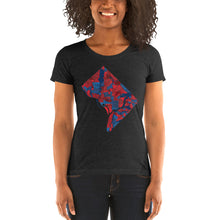Load image into Gallery viewer, Washington DC Neighborhood Map Women's Tri-Blend T-Shirt