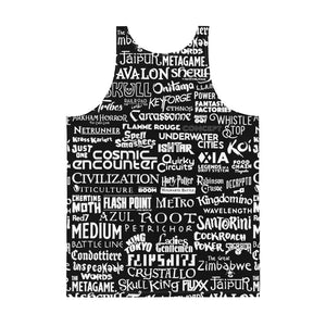 Ultimate Board Gamer Black and White Unisex Tank Top