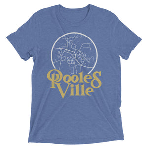 Poolesville Maryland Map Tri-Blend T-Shirt