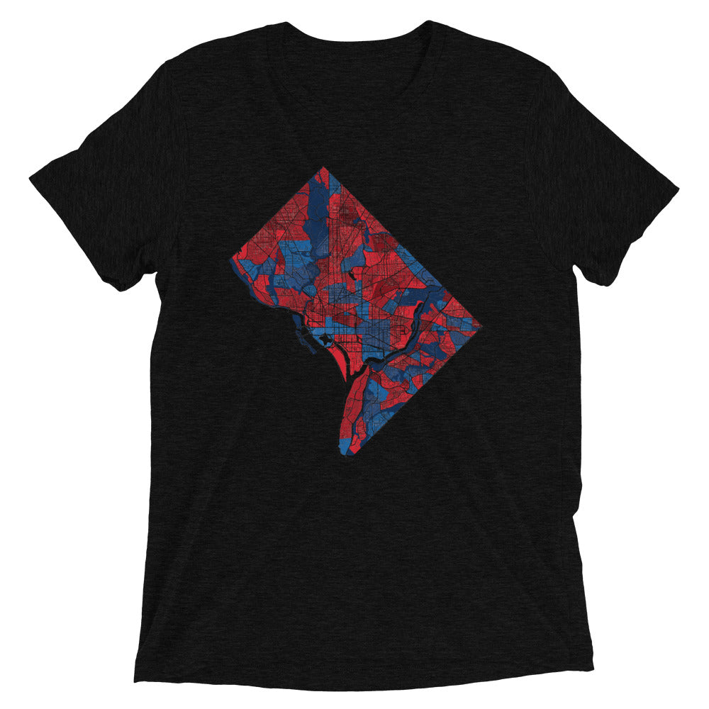 Washington DC Neighborhood Map Tri-Blend T-Shirt