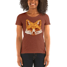 Load image into Gallery viewer, Cute Geometric Fox Sketch Women's Tri-Blend T-Shirt