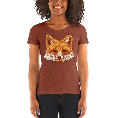 Cute Geometric Fox Sketch Women's Tri-Blend T-Shirt