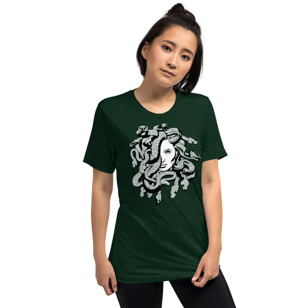 Medusa Greek Mythology Scales Unisex Tri-Blend T-Shirt