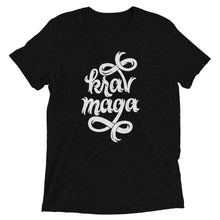 Load image into Gallery viewer, Krav Maga Jagged Script Tri-Blend T-Shirt