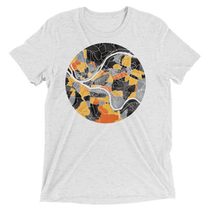 Pittsburgh Neighborhood Map Tri-Blend T-Shirt