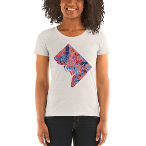 Washington DC Neighborhood Map Women's Tri-Blend T-Shirt