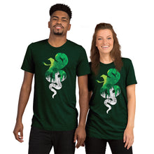 Load image into Gallery viewer, Slytherin House Castle Silhouette Unisex Triblend T-Shirt